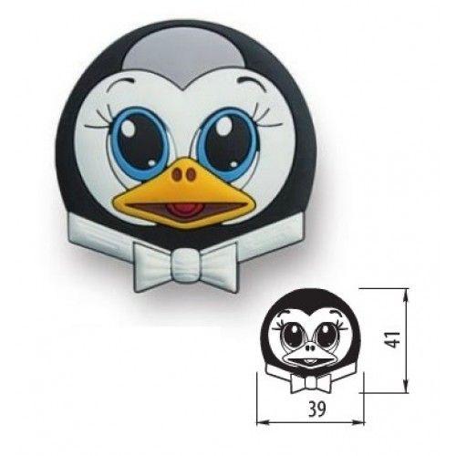 Pingvin szilikonos gyerekfogantyú